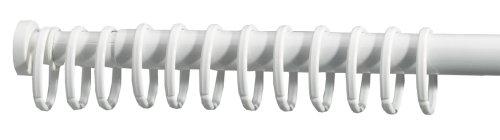 duschvorhangstange oval Sealskin Duschvorhangringe, weiß, 12 Stück