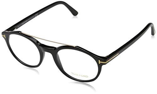 Tom Ford Herren Brille Ft5455 001 48 Brillengestelle, Schwarz,