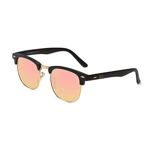 KGDJKGKD Männer und Frauen Mode Sonnenbrillen Anti-UV-Sonnenbrillen großen Rahmen Trend Sonnenbrille im Freien Strandspiegel klassischen Sonnenschirm Spiegel, pink