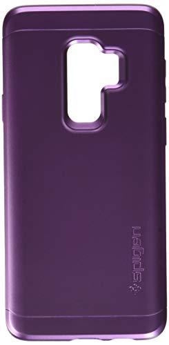 Spigen 593CS23967 Thin Fit 360 für Samsung Galaxy S9 Plus Hülle, 360° Rundumschutz-Schale mit Gratis Panzerglas Handyhülle Schutzhülle Case Lilac Purple
