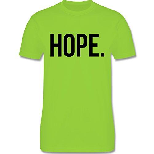 Statement Glaube Religion - Hope Hoffnung schwarz - Herren T-Shirt Hellgrün