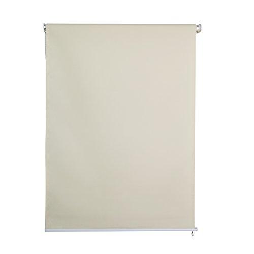 Jet-Line Outdoorrollo Sichtschutzrollo beige Verschiedene Größen (230, 120)