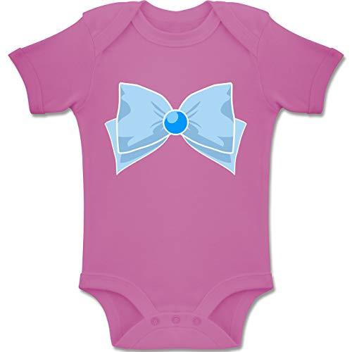 Monat 18 12 Kostüm Superhelden - Shirtracer Karneval und Fasching Baby - Superheld Manga Merkur Kostüm - 12-18 Monate - Pink - BZ10 - Baby Body Kurzarm Jungen Mädchen