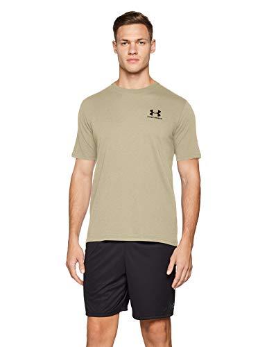 Feuchtigkeit Wicking Hemd (Under Armour Herren UA Sportstyle Kurzarm,T-Shirt ,Braun (City Khaki/Black (299)),L)