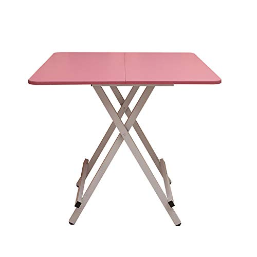 Table pliante YXX carrée en Bois pour la Cuisine, Bureau d'ordinateur en Bois pour Le Bureau à la Maison avec Pieds en Acier, 80x80x74cm (Couleur : #5)