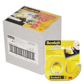 Promo pack 10+2 nastro biadesivo 665 6,3mtx12mm in chiocciola - conf. 1