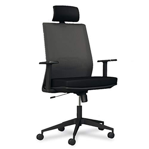 Chaise de Bureau avec Dossier Haut, Design Ergonomique, Filet Respirant, éponge Anti-Rebond de Haute qualité, capacité de Charge 150 kg, Convient aux employés de Bureau, Noir