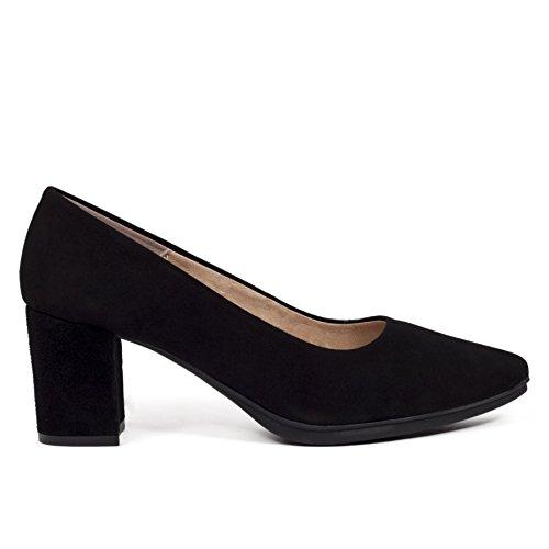 855cd46d Zapato Salon Negro Tacon 6cm Antideslizante Mujer. Colección Verano 2018.  Talla 35 hasta Talla