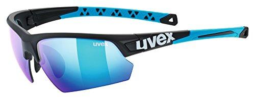 Uvex Erwachsene Sportstyle 224 Sportbrille, black mat blue, One Size (Uvex Damen Brille)