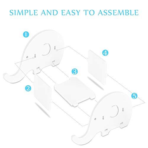 Happy Little Sheep - Organizador multifunción con diseño de elefante y soporte para teléfono móvil con soporte para bolígrafo, para decoración de escritorio