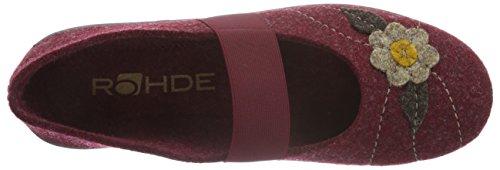 Rohde Damen Ballerup Flache Hausschuhe Rot (Bordeaux 42)
