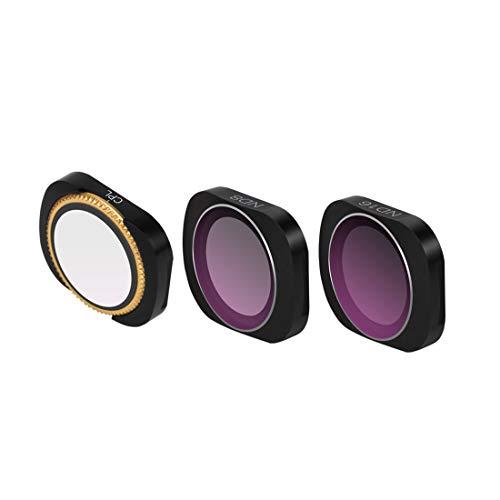 Gettesy 3 Stück Filter ND Filters Set ND Filter Kompatibler Objektivfilter für DJI OSMO Pocket Gimbal Kamera Objektiv Zubehör - CPL ND8 ND16