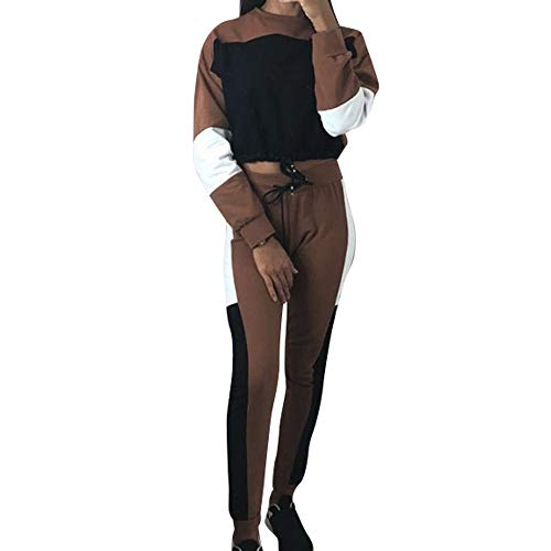 MYMYG Frauen 2 Stück Trainingsanzüge Set Tops Anzug -