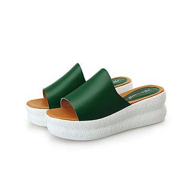 RTRY Donna Pantofole Suole Luce Di Qualità Buona Estate Luce Casual Suole Liane Verde Bianco Nero 1A-1 3/4In US8 / EU39 / UK6 / CN39