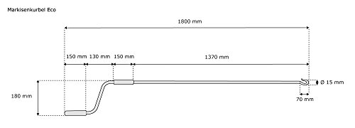 Asta Per Tende Da Sole.Jarolift Eco Asta Di Manovra Con Maniglia Fissa Da 180 Cm Per Tende