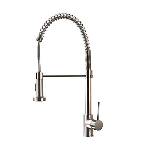 Cwill Bronze Schwarz Küchenarmatur Deck Montiert Mischbatterie 360   Grad Rotation Stream Sprayer Düse Kitchen Sink Heiße kalte Wasserhähne, gebürstete graue Farbe