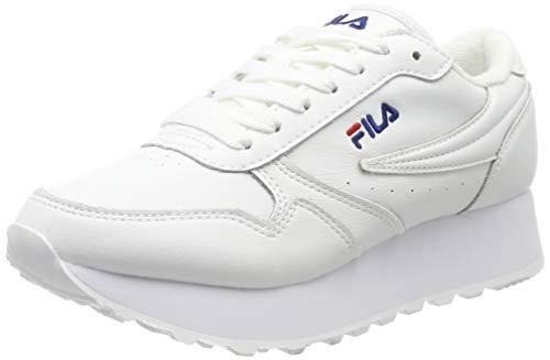 Fila Orbit Zeppa Low Wmn, Zapatillas para Mujer, Blanco (White 1010311-1fg), 39 EU
