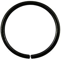 Black Sterling Silver Nose Ring for Women