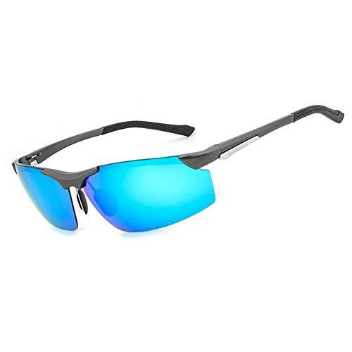 Shengjuanfeng Männer Marke Polarisierte Farbfilm Aluminium-Magnesium Sonnenbrillen Wassersport Fahren Angeln Klettern Küste Paly Sonnenbrille Für Männer UV400 Accessoires (Color : Blue)