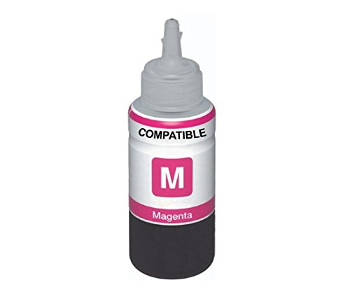 AB Compatible EPSON Magenta T6643 Refill Ink for L100, L110, L130, L200, L210, L220, L300, L310, L350, L355, L360, L365, L455, L550, L555, L565, L1300 (HSN Code: 84439951)  available at amazon for Rs.342