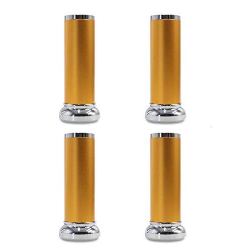 4 Packs Multi-Größe Höhe Aluminium Küche Einstellbar Füße Durchmesser MöbelBeine Kabinett Zähler Metall Bein - Einstellbar Höhe-150Mm-Gelb - 4 Zähler Höhe Stühle