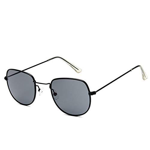 Sonnenbrille Sonnenbrille Retro Metallrahmen Uv400 Klare Linse Plain Gläser Reisen Im Sommer Sonnenbrillen Für Männer Frauen Dunkelgrau Spiegel (Wayfarer Gläser Plain)