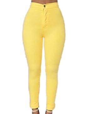Mujeres La Cintura Alta Pantalones Casuales Pantalones Skinny Stretchy Pencil