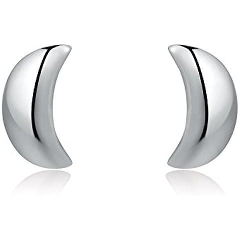 MBLife C07051E - Pendientes de plata de ley 925 con forma de media luna creciente (regalo perfecto para San