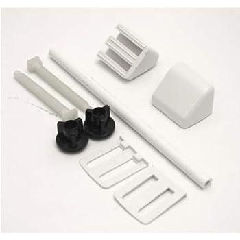 White Plastic Toilet Seat Hinges Amazon Co Uk Diy Amp Tools