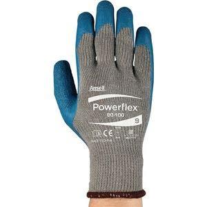 Handschuhe PowerFlex 80-100 Gr.10 gelb/grün PES/CO m.Naturlatex EN 388 Kat.II -