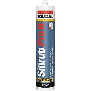 Soudal Silirub Pro N, PREMIUM Neutral-Silicone, Kartusche: 310ml, Farbe: Braun