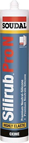 Soudal Silirub Pro N, PREMIUM Neutral-Silicone, Kartusche: 310ml, Farbe: Hellbraun