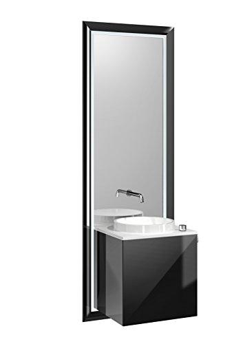 Emco Türgriff (emco touch pure Waschplatz, 45 cm Rahmen Schwarz, Front Schwarz, Griff rechts)