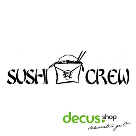171c65d8e4 Decus Sushi Crew L 1491 Sticker OEM JDM Style Sticker
