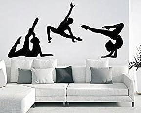 ARWY® Salon Stickers Sports Athletes Girl Sport Gymnastics ARWY® Salon stickerss Vinyl Stickers Teens Nursery Baby Room Home Decor Art Bedroom Design Interior C279