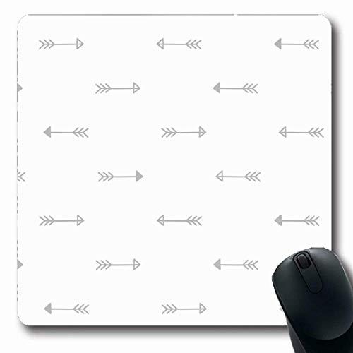 Luancrop Mousepads Empfindliche abstrakte Stammes- Pfeile Baby-ethnische Schellfische Körper-Farben-nettes Muster-rutschfeste Spiel-Mausunterlage Gummi-längliche Matte -