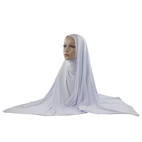 Lazzboy Frauen Muslim Stretch Turban Hut Chemo Cap Haar Kopftuch Headwrap Duschhaube Halstuch Für Damen Kopfbedeckung Islamische Gesichtsschleier, Schal, Haartuch, Chiffon (I)