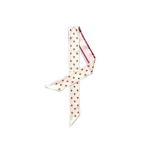 Felix & SiLK Damen Mädchen Perle Biene Reversible Schals Halstücher Stirnbänder Krawatten Twilly Choker Band Gürtel Handarbeit (Stirnband Große Reversible)