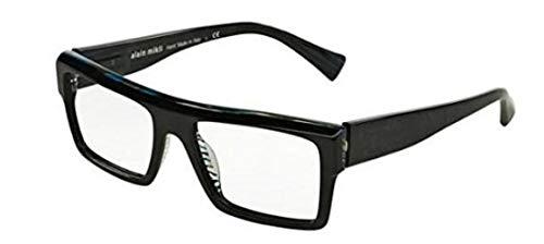 Alain mikli occhiali da vista 0a03032 black blue grey wires uomo