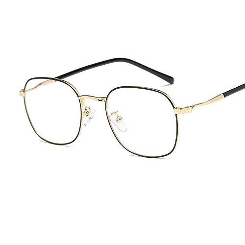YMTP Frauen Myopie Gläser Luxus Männer Lesen Brillen Retro Metall Platz Brille Rahmen Klare Linse