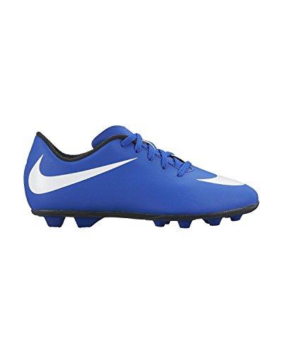 Nike Jungen JR Bravata FG-R Fußballschuhe Blau / Weiß / Schwarz / (Spiel Royal / Weiß-Schwarz)