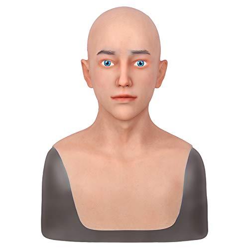 Männliche Masken Silikon Realistische Volle Kopf Maskerade für Crossdresser Cosplayer Mann Maske Halloween Kostüm Party