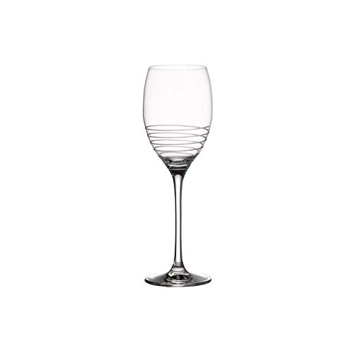 Villeroy & Boch Maxima Decorated 1137320034 Verre à vin blanc avec décoration spirale (Blanc)
