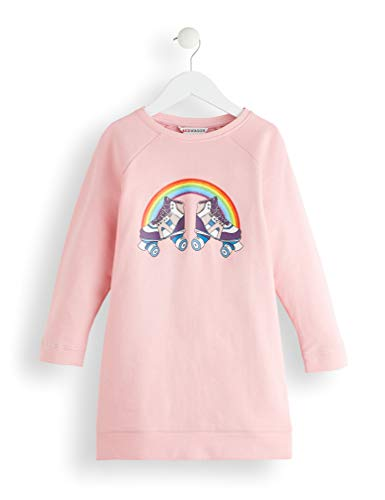 RED WAGON Rollarblade Sweat-Shirt Fille, Rose (Multicolour),128 (Taille Fabricant: 8)