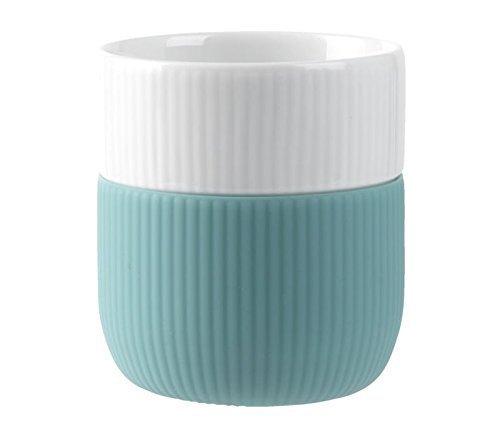 Royal Copenhagen - Contrast Becher - Manufaktur-Porzellan/Silikon - Opal Royal Becher
