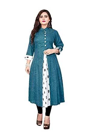 NIksa Fashion Women's Khadi Anarkali Kurta