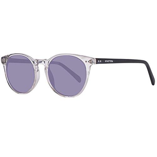 United Colors of Benetton Unisex-Erwachsene BE995S03 Sonnenbrille, Transparent (Crystl/Black), 50