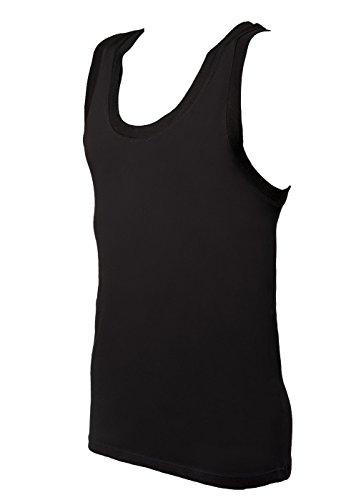 Dolce & Gabbana 2er Pack Herren Unterhemden, Bipack Tank Top - Schwarz oder Weiß Schwarz