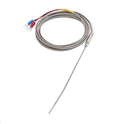 Miki&Co 2M Draht Temperatursensor Thermoelemen Sonde K Typ 150mm x 1,5mm -