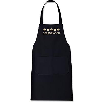 Shirtracer Küche - 5 Sterne Sternekoch - Kochschürze mit Tasche